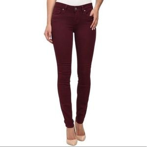 Paige Maroon Verdugo Ankle Skinny Jeans